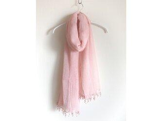 【ピンク】肌にやさしい 医療用ガーゼストール◆手染め/エコ染料の画像