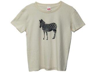 6.2oz Tシャツ GL(Girls-L) しまうまの画像