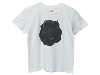 6.2oz Tシャツ white GS(Girls-S) バラの画像