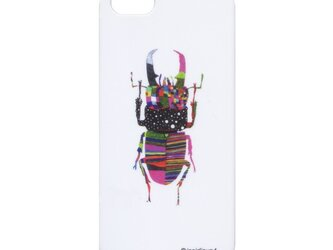 iPhone5/5Sケース クワガタ whiteの画像