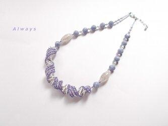 Water・Violet ネックレスの画像