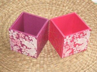 桜のペン立てのセットの画像