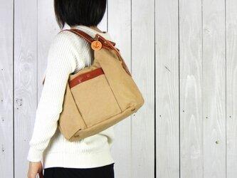 tanton-mini_タン(タンニン染め帆布×レザーバッグ)の画像