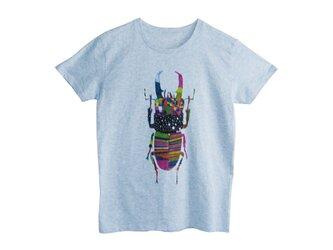 4.3oz Tシャツ melange blue S クワガタの画像