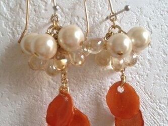 earrings flower 1の画像