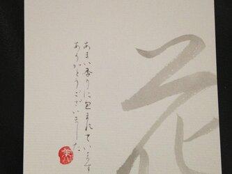 字てがみはがき「花」の画像
