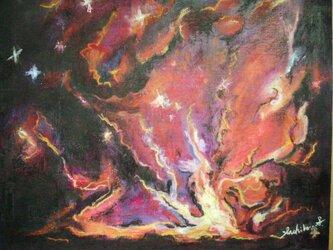 絵画インテリア キャンバス画 油絵 cosmos 誕生 2の画像