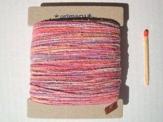 桃&紫色グラデーション糸の画像