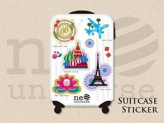 スーツケース形ステッカー〈neo universe〉の画像