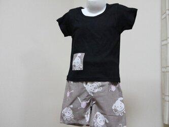 手ぬぐい ズボンとお揃いTシャツ(80サイズ)の画像
