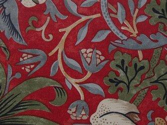 ウィリアム・モリスの生地でつくった座布団カバー [ID赤1八端]の画像