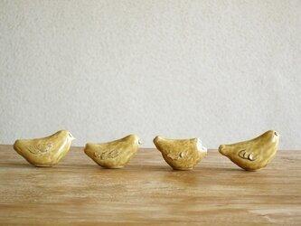 黄色い鳥笛(つや)の画像