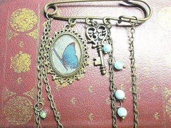 蒼い蝶と鍵とドルフィンストーンの画像