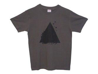 6.2oz Tシャツ chacoal S サンカクの画像