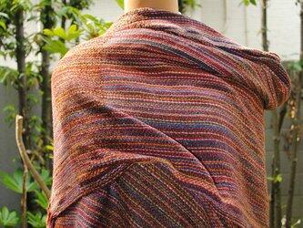 シルク手織ストールFの画像
