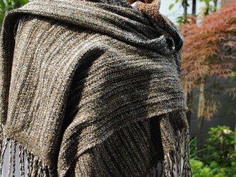 シルク手織ストールGの画像