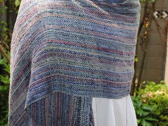 シルク手織ストールHの画像
