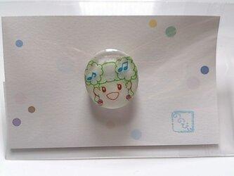 ☆ 女の子 (*^O^*) 緑 のブローチの画像