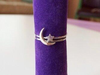 Moon & Star リングの画像