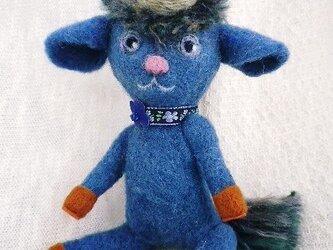 ★羊毛フェルト・ブルーの一角獣の男の子★の画像
