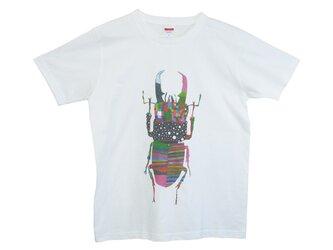 6.2oz Tシャツ white L クワガタの画像