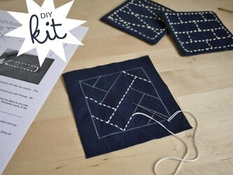 DIY Sashiko Kit Coaster Setの画像
