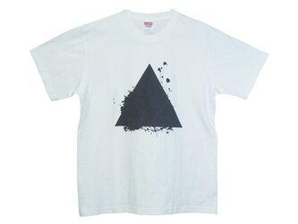 6.2oz Tシャツ white L サンカクの画像
