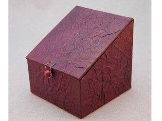 ふた、留め金付き小箱 (パープル)の画像