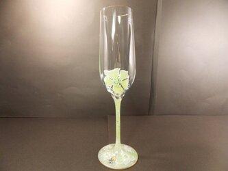 シャンパングラス(お花ふわりWK)の画像