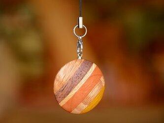 木のストラップ(ハイブリッド-Circle)の画像