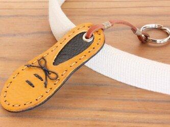 靴型のキーホルダー YL×NV #5-3 (イタリアンレザー)の画像