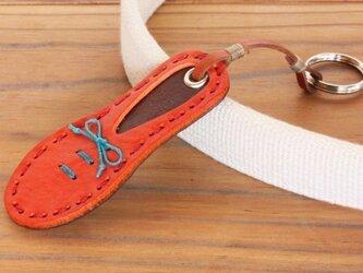 靴型のキーホルダー OR×DBR #6-2 (イタリアンレザー)の画像