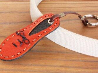 靴型のキーホルダー OR×NV #6-3 (イタリアンレザー)の画像