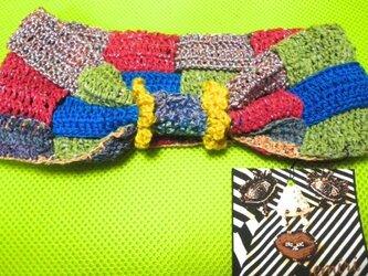 【SALE】10%OFF かぎ針織りヘアバンドの画像