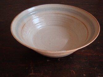 青茶ストライプ 鉢の画像
