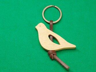 キジバト / 鳩 木のキーリングの画像