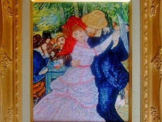 【展示品】刺繍絵画:ルノワール(ミニ)の画像
