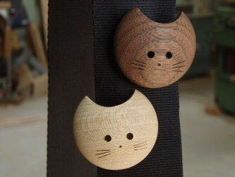 月猫ブローチ(Mサイズー黒猫)の画像