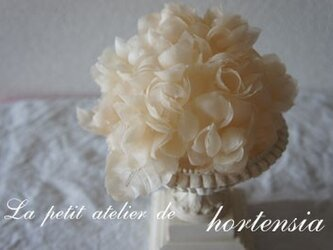 本絹布花ヘッドドレス(紫陽花)の画像