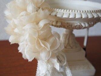 本絹布花カチューシャ(紫陽花)の画像