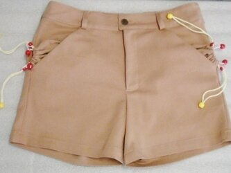 巾着ポッケのショートパンツの画像