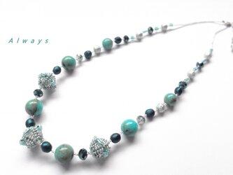 K様ご注文品 ターコイズ・ブルー ネックレスの画像