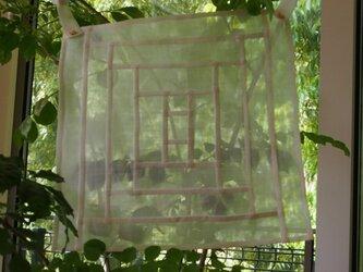 ポジャギのカーテンの画像