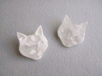 cat face ブローチの画像