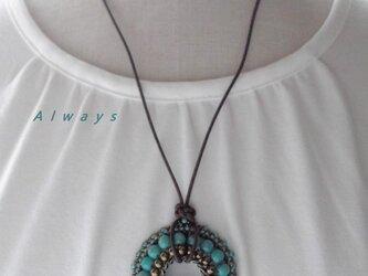Turquoise Circle ネックレスの画像