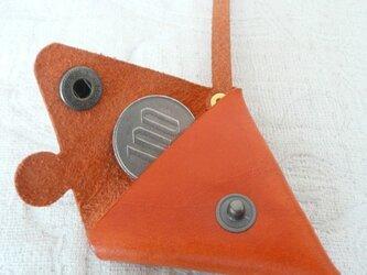 ちょっと突き出たミニミニコインケース(ブッテーロ)の画像