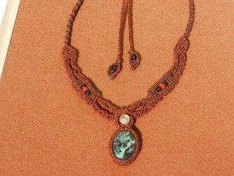 天然石 アズロマラカイト デザインネックレスの画像