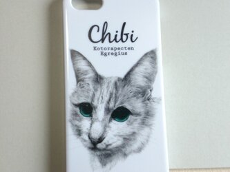 iPhone5/5sケース 猫のちびの画像