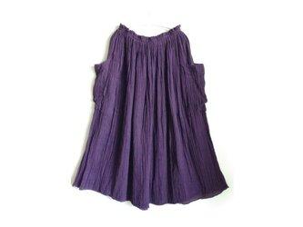 【むらさき色】ギャザースカート ポケット付◆医療用ガーゼ服の画像