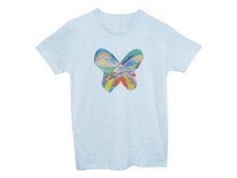 4.3oz Tシャツ melange blue S ちょうむすびの画像